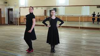 Как делать ключ в русском народном танце. Двойная дробь