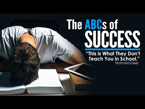 The ABCs of SUCCESS - Amazing Motivational Video for Students, Studying & Success in Life