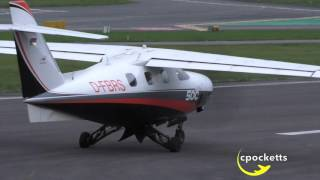 very rare extra 500 d fbrs very windy take off gloucestershire airport