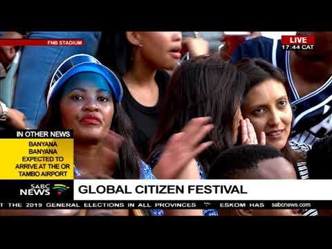 The Global Citizen Festival still on-going at FNB Stadium