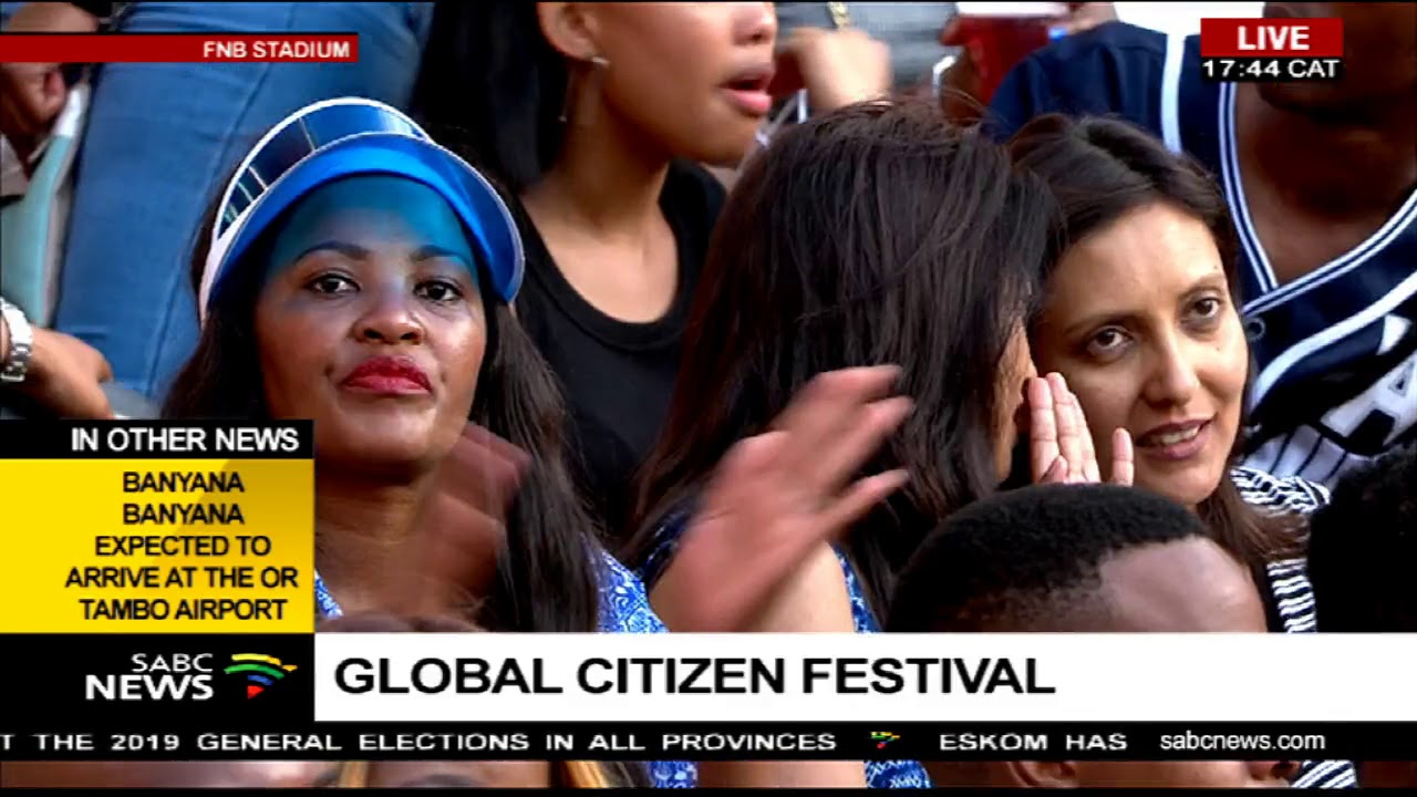 The Global Citizen Festival still on-going at FNB Stadium