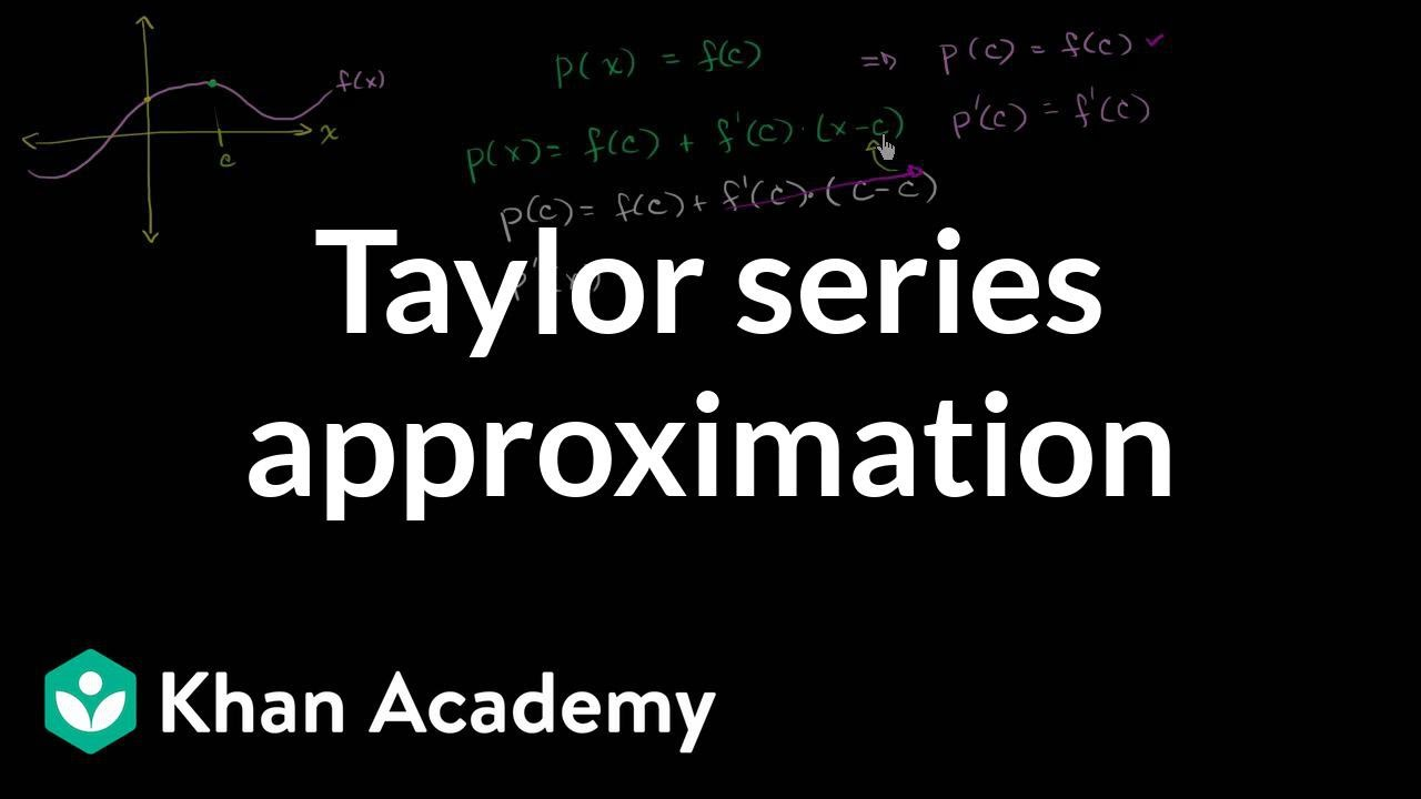 Taylor & Maclaurin polynomials intro (part 2) (video) | Khan Academy