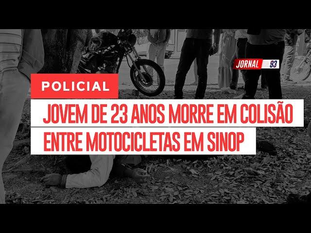 Jovem morre após colisão violenta entre motocicletas
