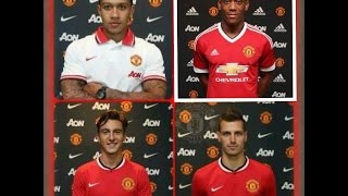 Depay ● Schneiderlin ● Martial ● Darmian ● WELCOME TO MANCHESTER UNITED