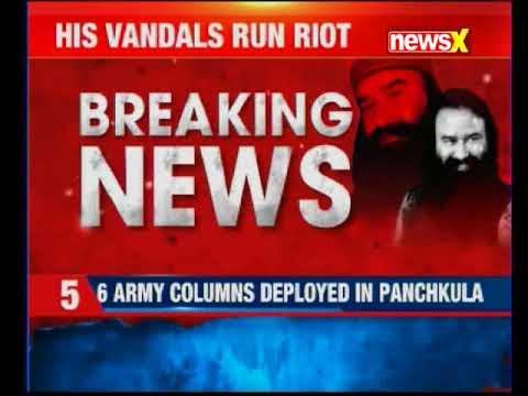 Buses burnt in Delhi post Ram Rahim verdict