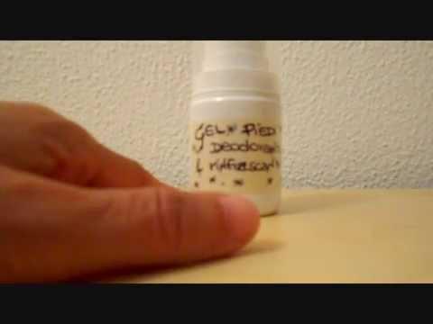 Tutorial Gel piedi deodorante e rinfrescante
