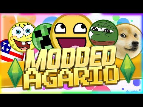 MODDED AGARIO - CUSTOM SKINS AND SERVERS ( Agar.io Hack / Tips / Cheats )