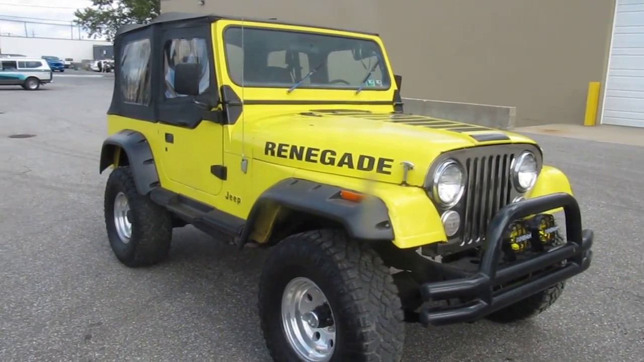 1983 jeep cj7 renegade v8 4 speed 33 mud tires dual exhaust nice 5800 [ 1280 x 720 Pixel ]