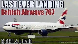 BRITISH AIRWAYS 767 RETIREMENT | BA Boeing 767's FINAL Arrival at SCRAPYARD, MOD St Athan (EGDX)