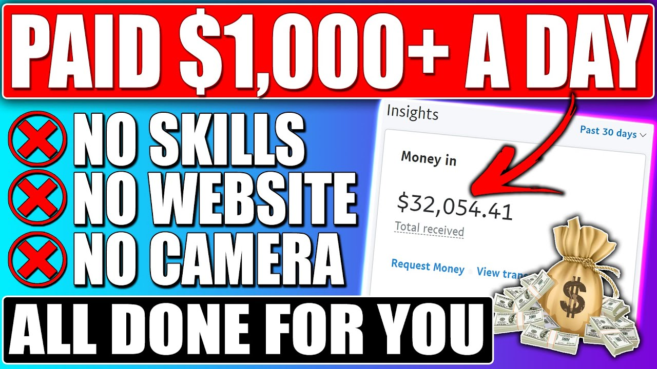 Get PAID $1,000/Day Completely DONE FOR YOU To Make Money Online With No Effort! (5 Minute Setup)