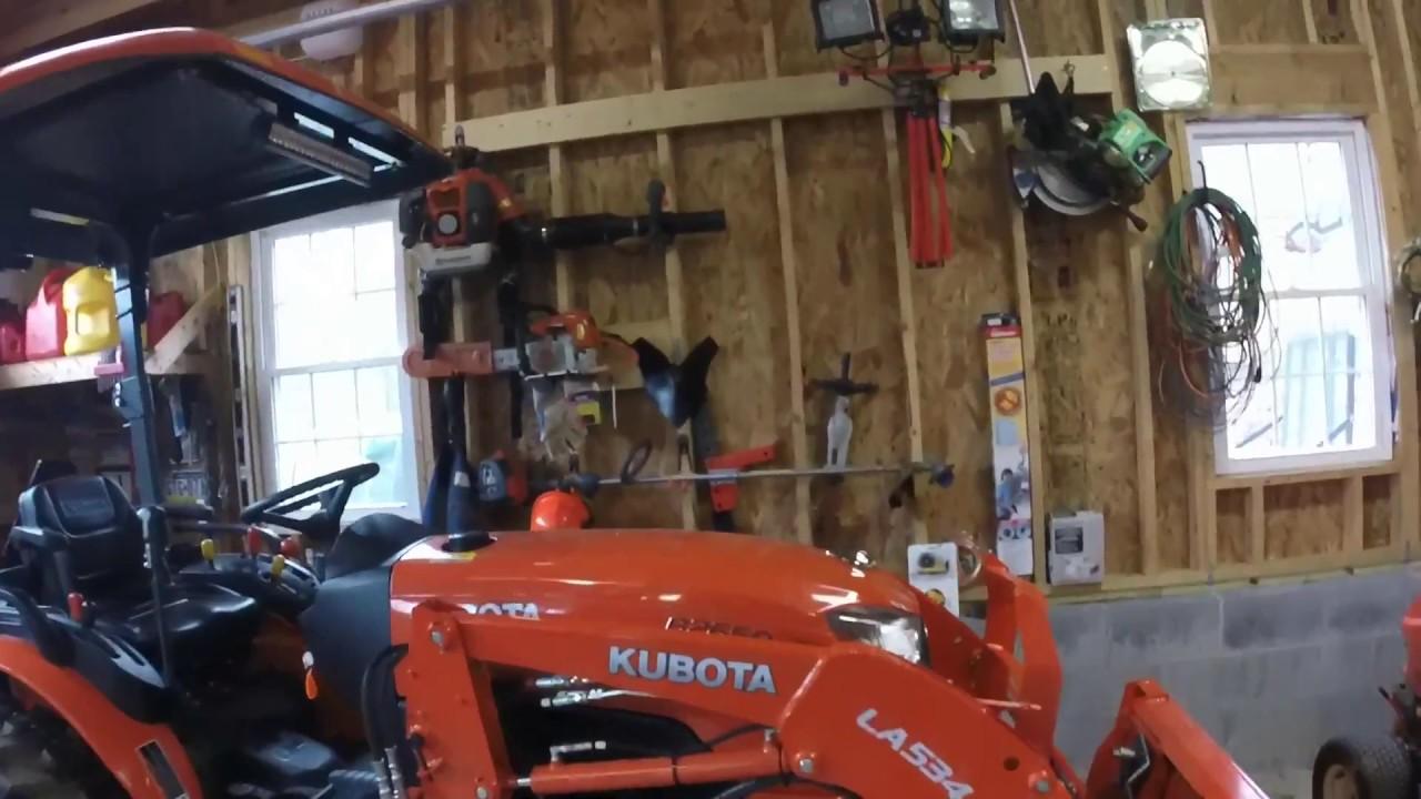 Kubota Tractor Led Lights : Kubota b rops lights youtube