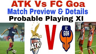 ATK vs FC Goa   Match Preview & Details with Predicted Lineups  UniqueOn  Bengali