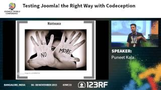 JWC15 - Testing Joomla! the right way with Codeception