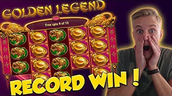 RECORD WIN!!! Golden Legend Big win - Casino - free spins (Online Casino)