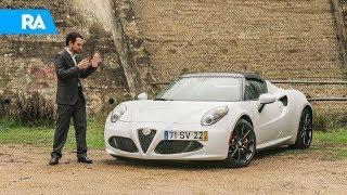 Ao volante do Alfa Romeo 4C Spider. O carro mais difícil que já conduzi.