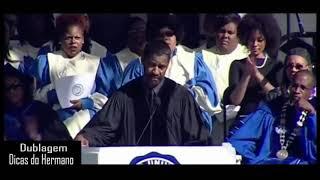 Denzel Washington motivando os formandos