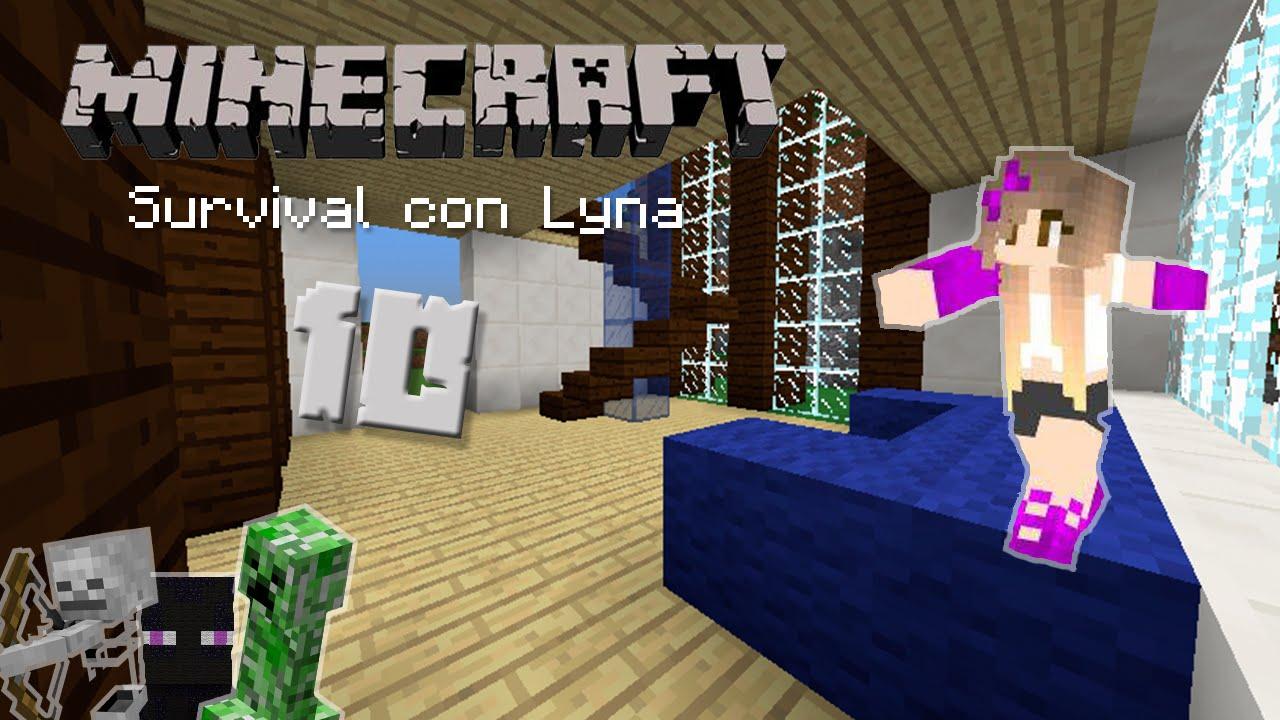 Decorando nuestra casa minecraft survival con lyna 10 for Casa moderna lyna