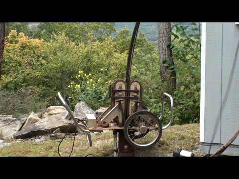 Well Pump Puller >> Pul-A-Pump pulls out 500ft of coil pipe - YouTube
