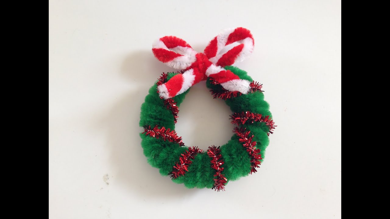 pipe cleaner christmas wreath 1 youtube - Pipe Cleaner Christmas Tree