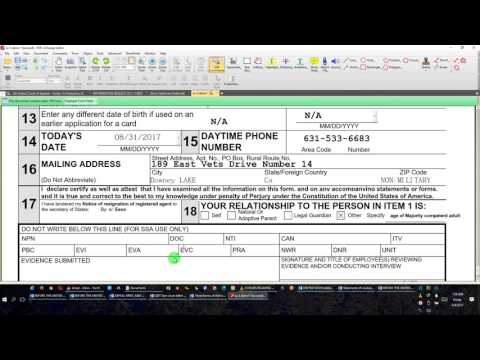 Social Security Form SS% and the Process2017 08 04 By EEON