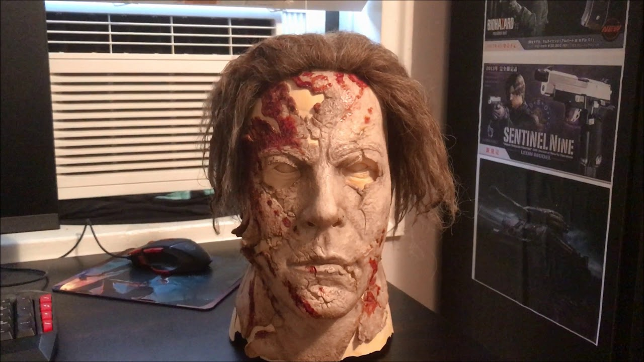Halloween 2 Rob Zombie Mask.Halloween Ii Rob Zombie Dela Torre White Satin Myers Mask Unboxing Review