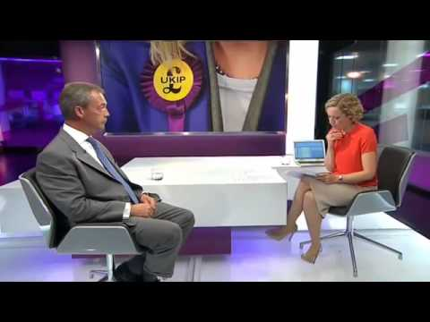 Ch4's Cathy Newman failed hatchet job at Nigel Farage   UKIP 05Aug13