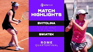Iga Swiatek vs. Elina Svitolina | 2021 Rome Quarterfinal | WTA Match Highlights