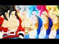 Dragon Ball FighterZ - All Vegito Transformations (Super Vegito-God-Blue-Ultra Instinct & SSJ4)