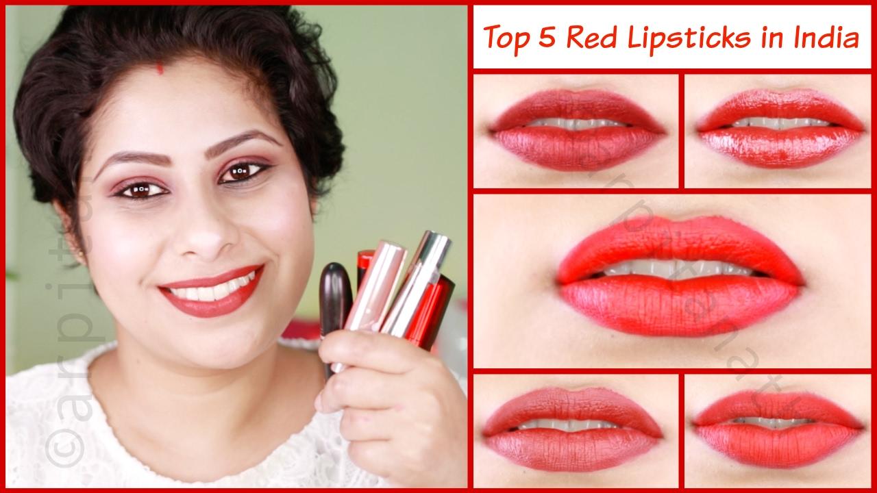 Top 5 Red Lipsticks for Indian Skin Tone || MAC Ruby Woo ...
