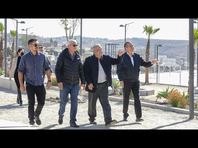 Supervisión de obras de mejoramiento urbano en Tijuana, Baja California