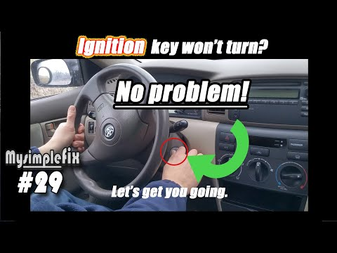 """If your"""" ignition key"""" won't turn (Most vehicles that use a key)"""