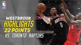 Russell WestBrook Full Highlights Vs Toronto Raptors - 22 Points -  10/10/2019