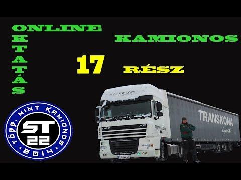 102.Vonatra állás Kamionnal.Kamionos betanítás  kezdőknek.17.rész.