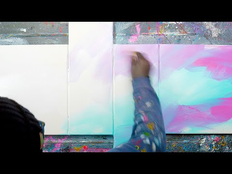 amazing-deep-shadow-on-canvas-step-by-step-abstract-painting-|-satisfying-masking-tape-asmr