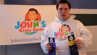John from John's Crazy Socks Introduces Our Down Syndrome Awareness Sock