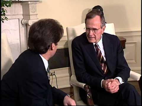 Albanian President Sali Berisha meeting President George Bush, June 1992.