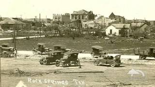 April 12, 1927: F5 Tornado Destroys Rock Springs, TX