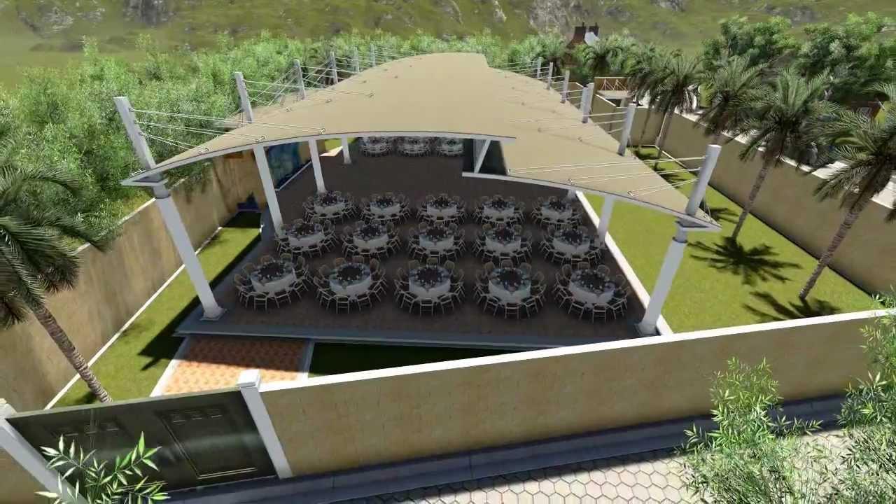 Jardin de fiestas youtube for Jardines para eventos