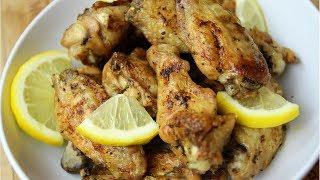 CRISPY BAKED LEMON PEPPER CHICKEN WINGS | Nigerian Food Recipes
