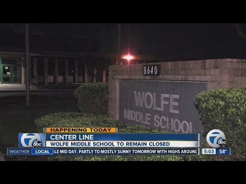Wolfe Middle School in Center Line closed while investigators look into anonymous threat