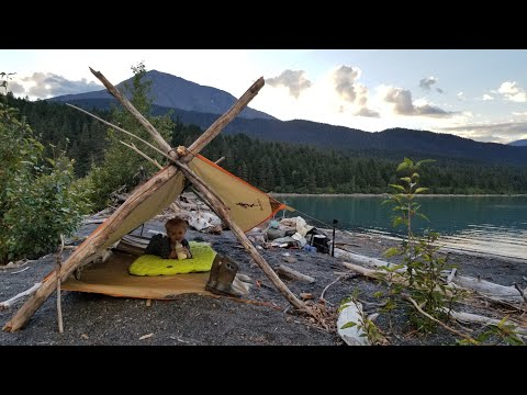 Survival Camping with my 2 yr old in Alaska (His first Time) - Bring the whole family along camping
