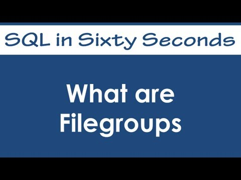 SQL SERVER - SQL Basics Video: What Are Filegroups - SQL in Sixty Seconds #064 hqdefault