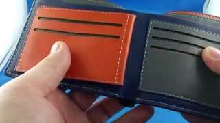 Leather Luxury Wallet Bifold Pocket from Aliexpress.com Unboxing haul euro app