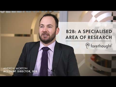 B2B: A Specialised Area of Research