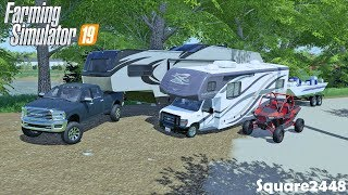 Fall Camping & Fishing | Bass Boat | 2020 Ram | Toy Hauler | Homeowner Series | Farming Simulator 19