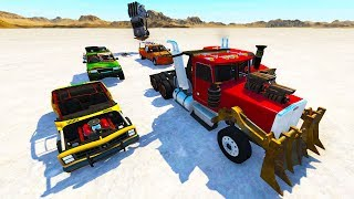 INSANE MULTI CAR MAD MAX DESERT CHASES AND CRASHES! - BeamNG Drive Chases and Police Pursuits