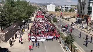 Tunceli`de Teröre Lanet Yürüyüşü