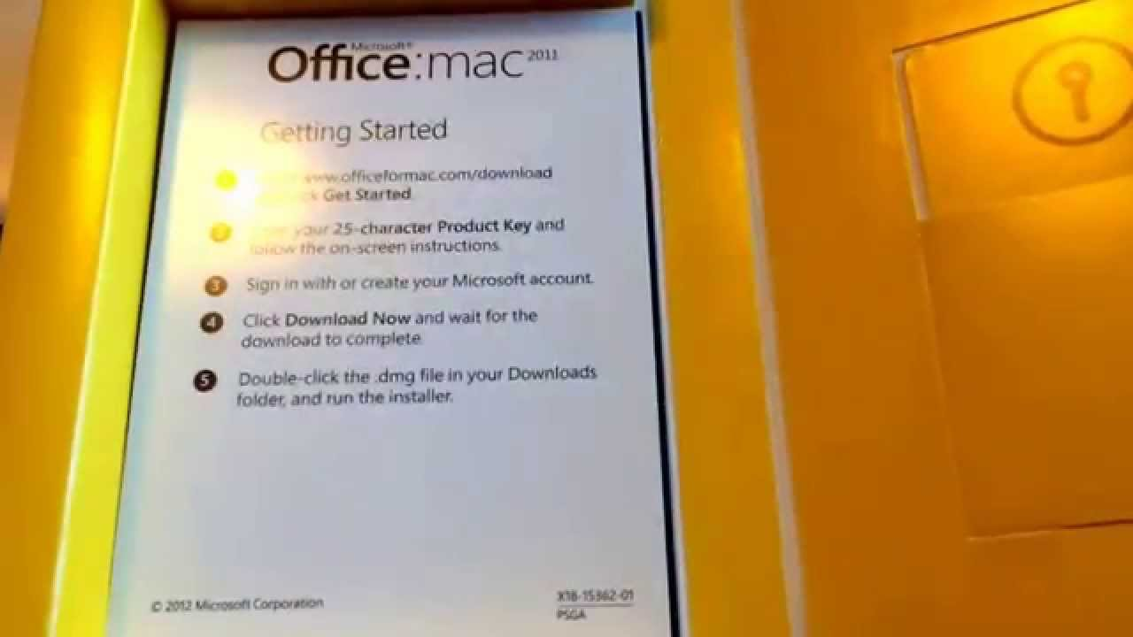 Office Mac 2011 Product Key Microsoft Office Mac 2011 Unboxing