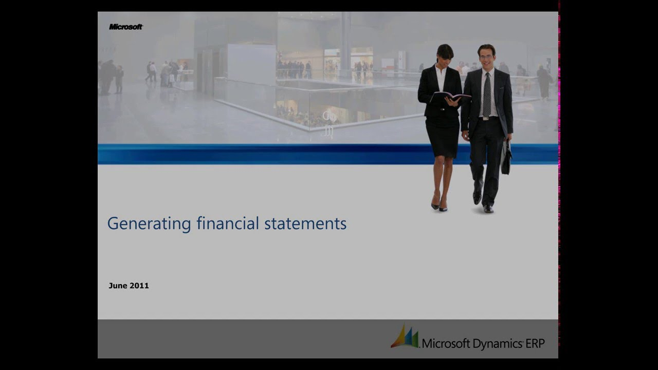 microsoft dynamics ax generating financial statements youtube