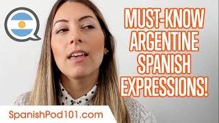 Top Argentine Spanish Expressions to Speak Like a True Argentine